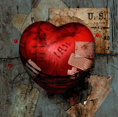 broken heart tattoo. Bandaged+heart+tattoos
